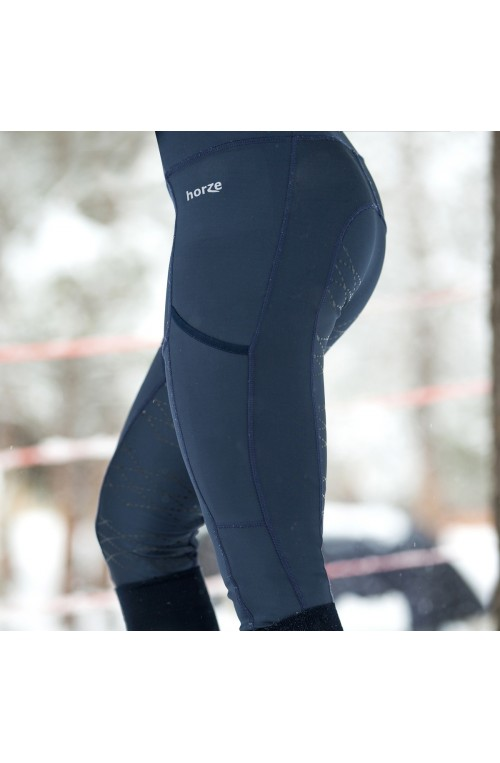 Pantalon leggings horze kira bleu marine/34f