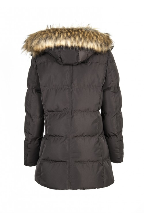 Veste longue equiline blanch marron