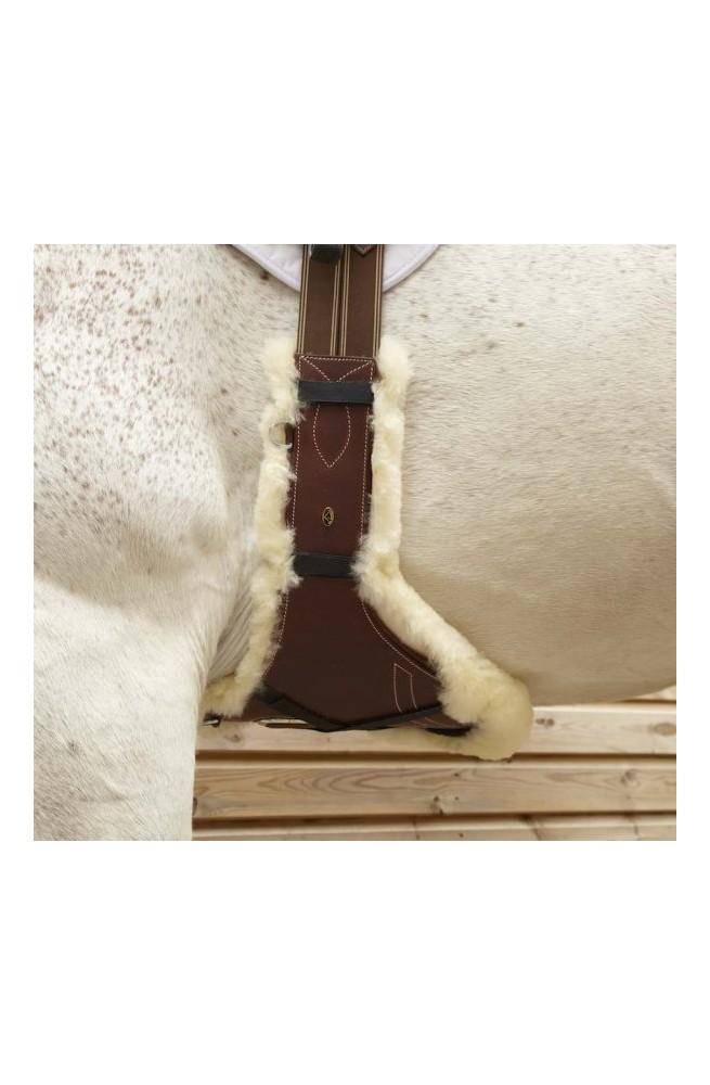 Protege bavette mouton lemieux marron/unique