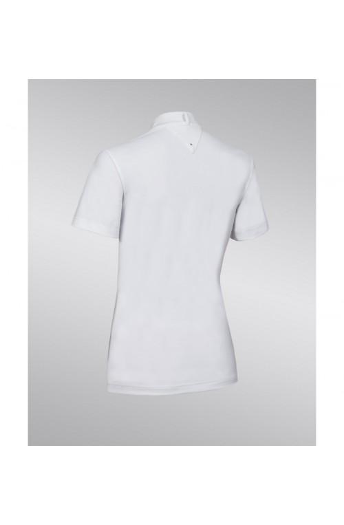 Polo concour samshield jeanne blanc/xs