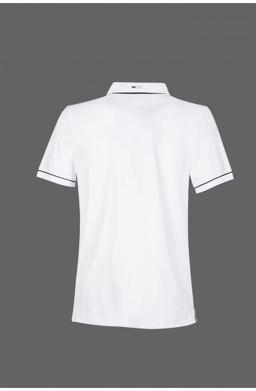 Polo equiline homme linden blanc/m