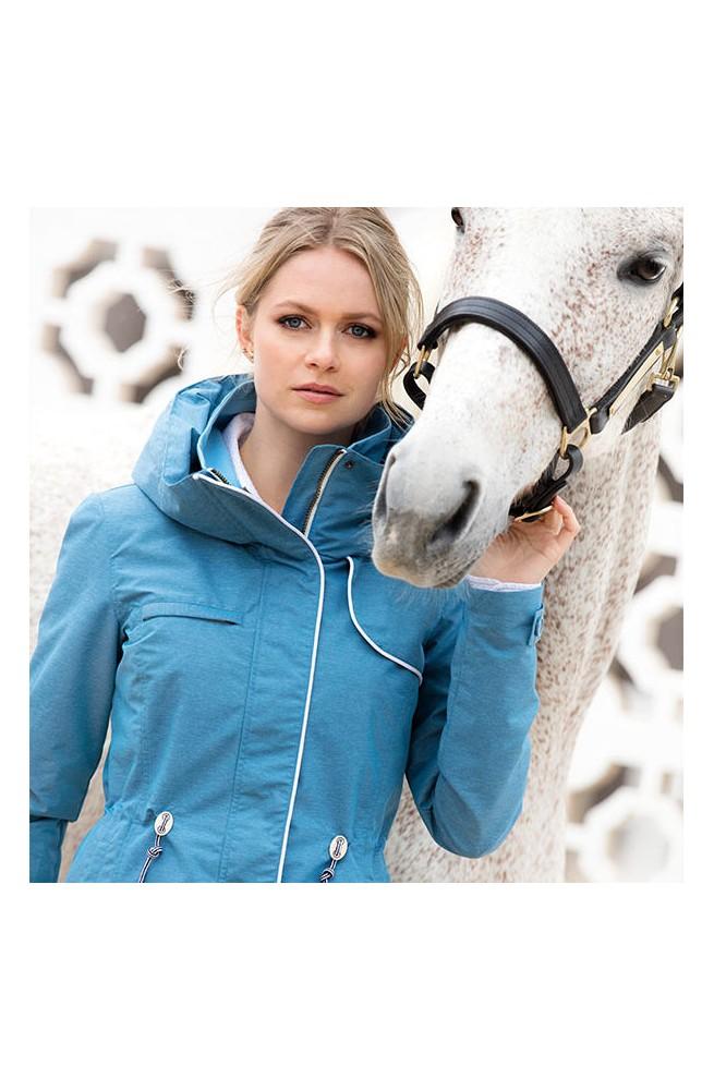 Veste horseware charlita bleu/s