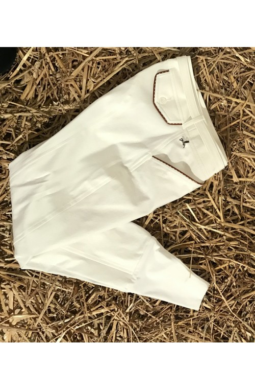 Pantalon blanc Pénélope Leprevost Point Sellier