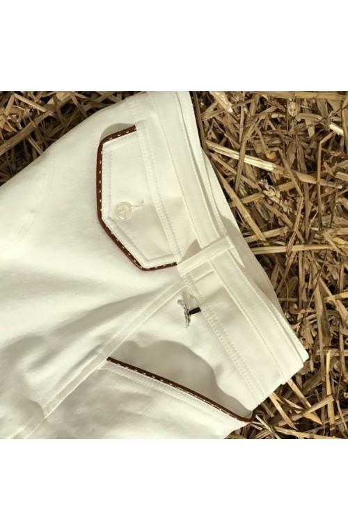 Culotte pénélope point sellier blanc/34