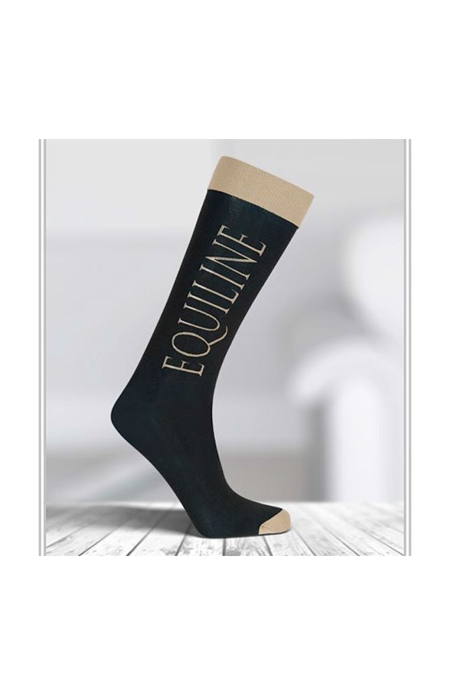 Chaussette equiline boot noir/39/42
