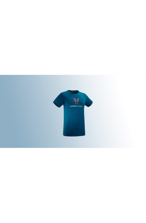 T shirt team horse pilot homme marine/m