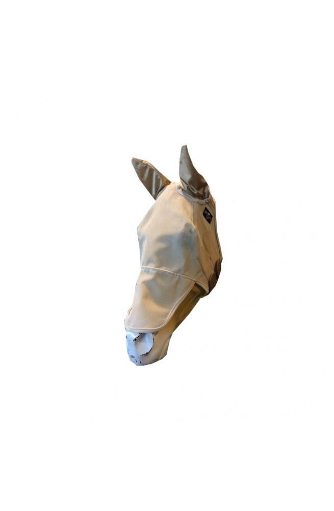 Fly mask avec oreilles pro cho beige/cob