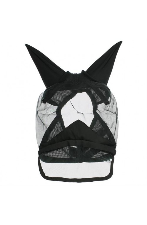 Fly mask qhp detachable noir/pon
