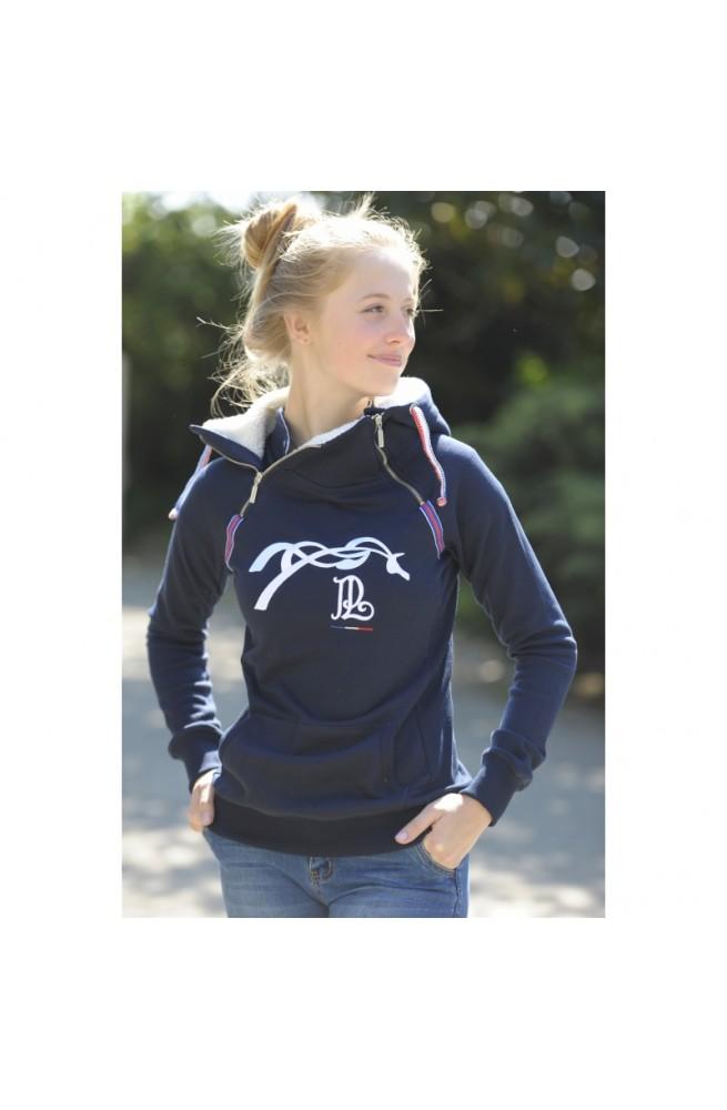 Sweat penelope hoodie db zip marine