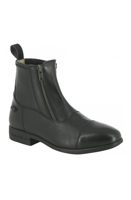 Boots equi thème double zip noir