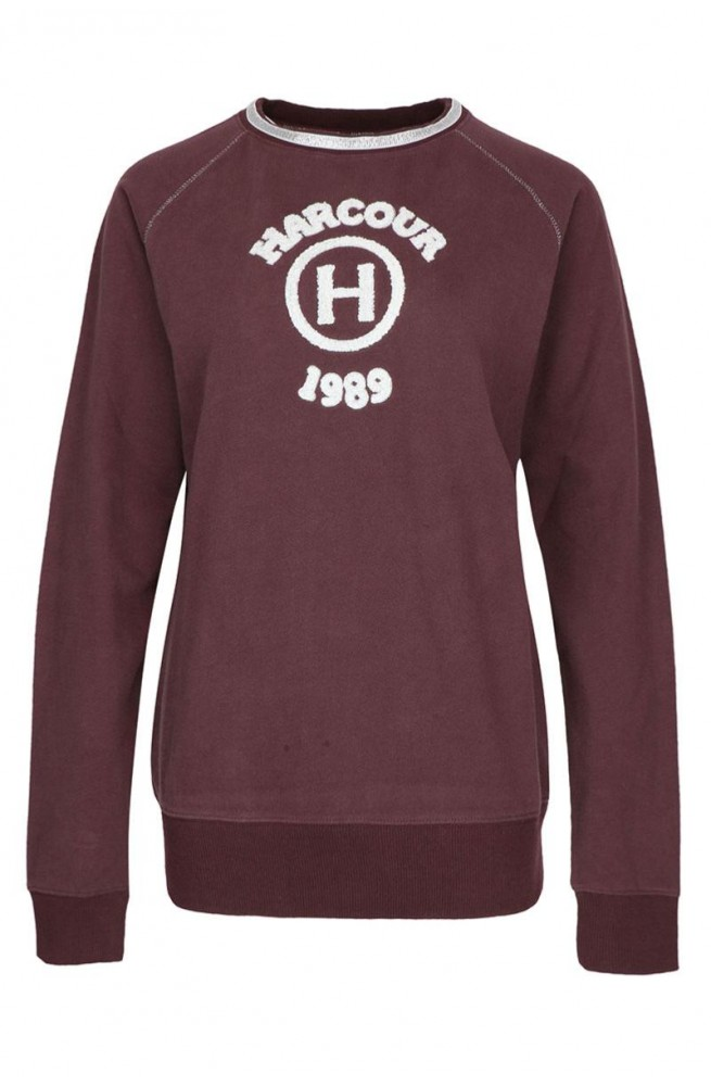 Sweat harcour gancia bordeaux/xs