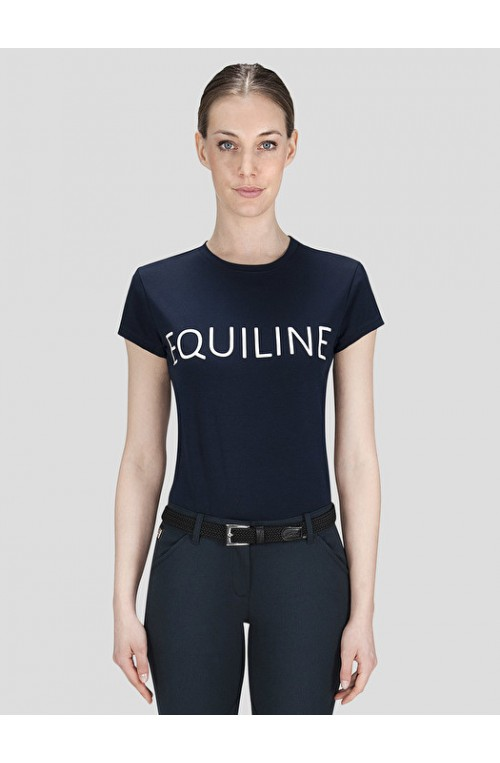 T shirt equiline piper marine/s