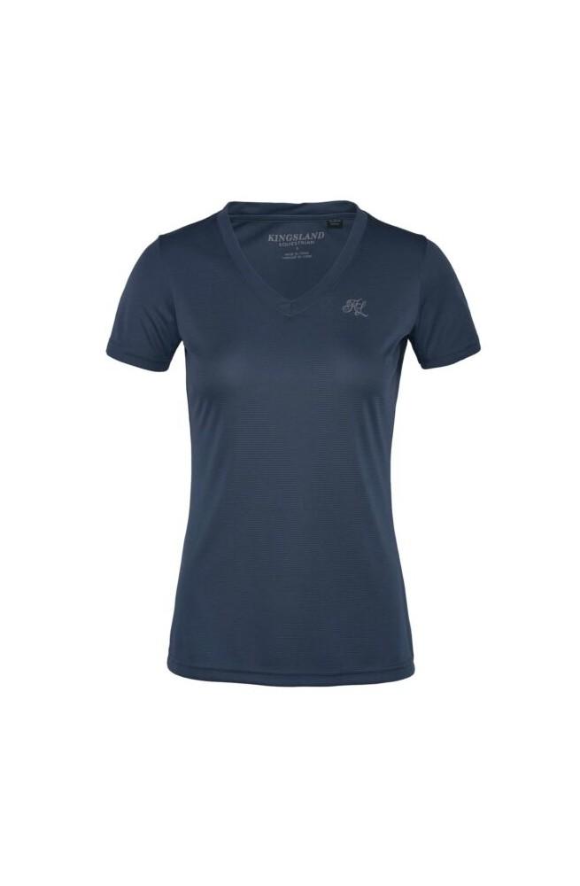 T shirt col v kingsland desma marine/s