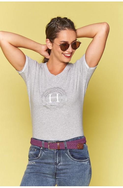 T shirt femme harcour havre gris/xs