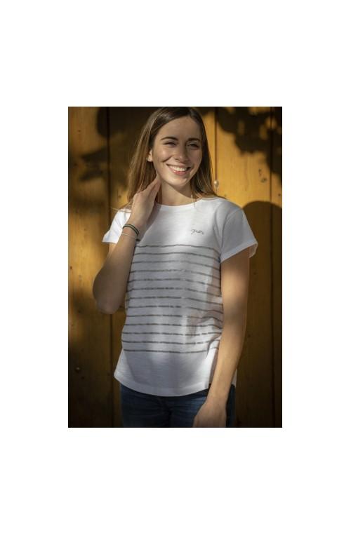 T shirt penelope harlem ecru gris/xs