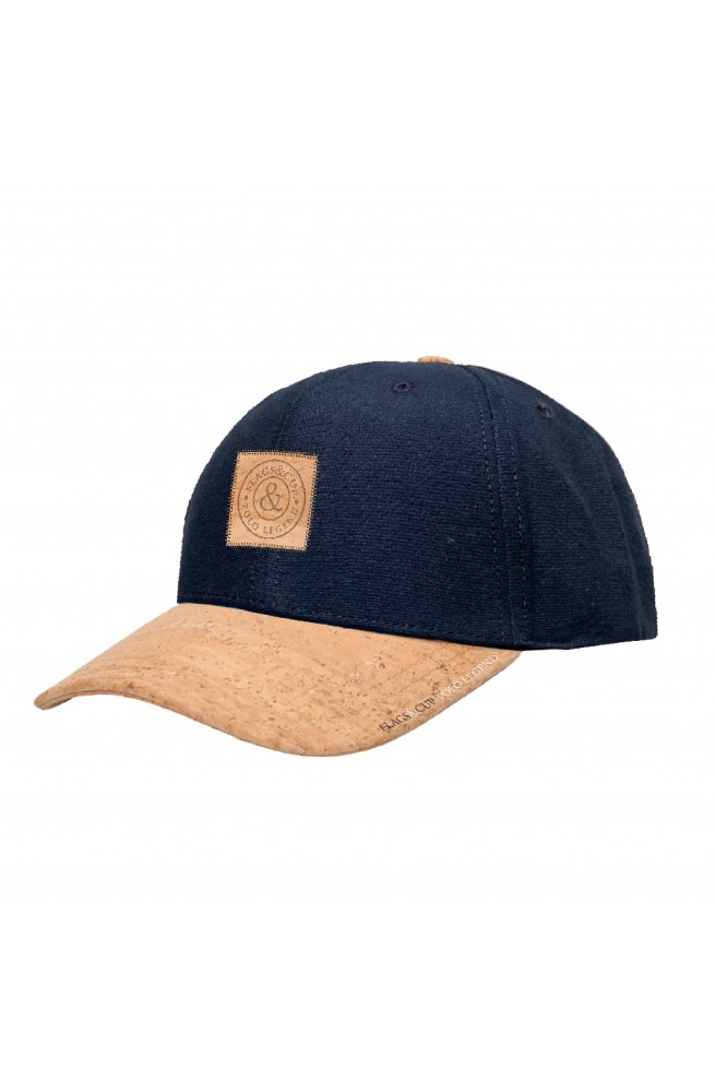 Casquette open flags&cup marine