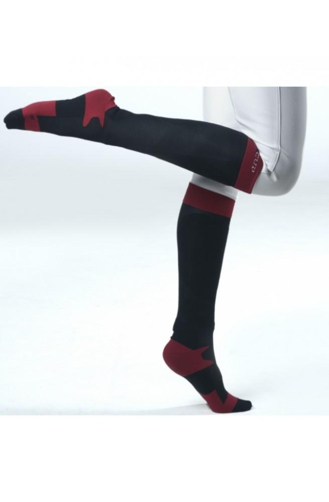 Chaussette f&cup emo noir rouge/36-38