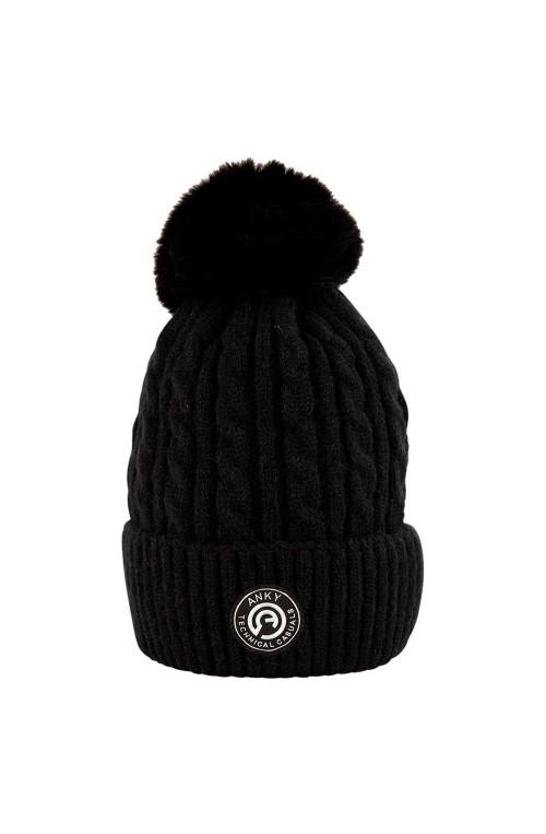 Bonnet anky pompom noir/unique